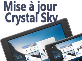 Mise à jour Crystal Sky