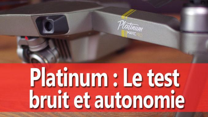 drone mavic platinum comparaison
